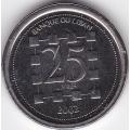 25 ливров. 2002 г. Ливан. 5-2-171