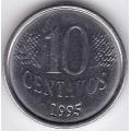 10 сентаво. 1995 г. Бразилия. 5-2-400