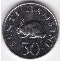 50 сенти. 1990 г. Танзания. Кролик. 5-4-170