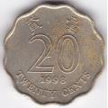 20 центов. 1998 г. Гонконг. 5-4-191