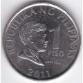 1 песо. 2011 г. Филиппины. 5-4-299