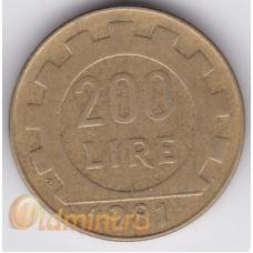 200 лир. 1981 г. Италия. 5-4-309