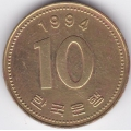 10 вон. 1994 г. Южная Корея. 5-5-316