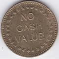 """Жетон """"NO CASH VALUE"""". 19-2-282"""