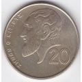 20 центов. 1998 г. Кипр. Зенон Китийский. 6-1-249