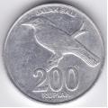 200 рупий. 2003 г. Индонезия. Балийский скворец. 6-1-291