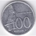 100 рупий. 1999 г. Индонезия. Какаду. 6-1-295
