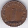 "1 рейхспфенниг. 1938 г. ""A"". Германия. 6-1-323"