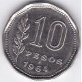 10 песо. 1964 г. Аргентина. 6-1-332
