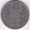1 крона. 1973 г. Швеция. 6-1-432
