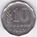 10 песо. 1963 г. Аргентина. 6-1-483