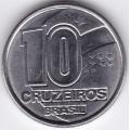 10 крузейро. 1991 г. Бразилия. 6-1-487