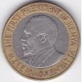10 шиллингов. 2005 г. Кения. Джомо Кениата. 6-2-177