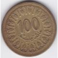 100 миллимов. 1983 г. Тунис. 6-2-206