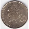20 центов. 2001 г. Кипр. Зенон Китийский. 6-2-281