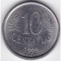 10 сентаво. 1996 г. Бразилия. 6-3-55