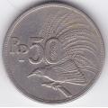 50 рупий. 1971 г. Индонезия. Большая райская птица. 6-3-68