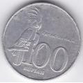 100 рупий. 2001 г. Индонезия. 6-3-124