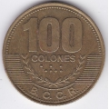 100 колон. 2007 г. Коста-Рика. 6-3-220
