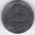 1 цент. 1942 г. Нидерланды. 6-3-243