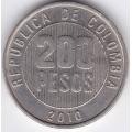 200 песо. 2010 г. Колумбия. 6-3-366