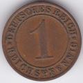 "1 рейхспфенниг. 1929 г. Германия. ""A"". 6-4-319"