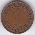 "1 рейхспфенниг. 1932 г. Германия. ""A"". 6-4-320"
