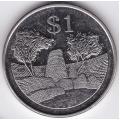 1 доллар. 2002 г. Зимбабве. Руины Большого Зимбабве. 6-4-336