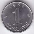 1 сантим. 1969 г. Франция. 6-5-574