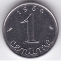 1 сантим. 1969 г. Франция. 6-5-575