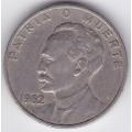 20 сентаво. 1962 г. Куба. Хосе Хулиан Марти-и-Перес. 6-5-625