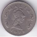 2 цента. 1977 г. Мальта. Пентесилея. 15-2-83