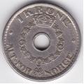 1 крона. 1950 г. Норвегия. 15-4-14