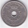 1 крона. 1950 г. Норвегия. 15-4-19