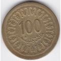 100 миллимов. 1960 г. Тунис. 15-5-101