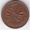 1 цент. 1971 г. Канада. 15-5-307