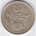 10 центов. 1985 г. Кипр. 15-6-62