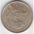 10 центов. 1990 г. Кипр. 15-6-63