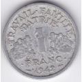 1 франк. 1942 г. Франция. Для правительства Виши. 15-6-231