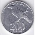 200 рупий. 2003 г. Индонезия. Балийский скворец. 12-1-94