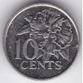 10 центов. 2003 г. Тринидад и Тобаго. Цветок гибискуса. 12-1-138