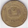 1 песо. 1993 г. Доминиканская Республика. 12-1-198