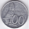 100 рупий. 2001 г. Индонезия. Какаду. 12-1-245