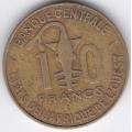 10 франков. 1976 г. Западная Африка. 12-1-248