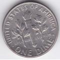 1 дайм (10 центов). 1967 г. США. 12-2-348