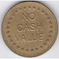 "Жетон ""NO CASH VALUE"". 12-2-423"
