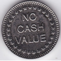 "Жетон ""NO CASH VALUE"". 12-2-424"