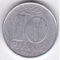 """10 пфеннигов. 1968 г. ГДР. """"А"""". 12-4-174"""