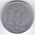 """10 пфеннигов. 1980 г. ГДР. """"А"""". 12-4-178"""