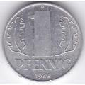 """1 пфенниг. 1968 г. ГДР. """"A"""". 12-4-192"""